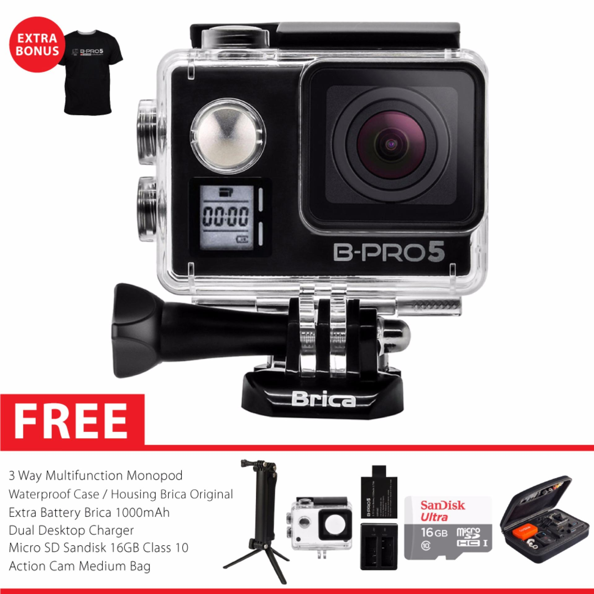 BRICA B-PRO 5 Alpha Edition Mark IIs (AE2s) WIFI 4K Combo 3 Way Berrisom - Hitam