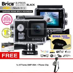 BRICA B-PRO 5 Alpha Edition Mark IIs (AE2s) WIFI 4K BLACK + ATTanta SMP-09A + Phone Clip + Kaos Brica + Sticker BPRO5