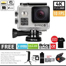 Harga Brica B Pro 5 Alpha Edition Paket Combo 3 Way Extreme Full Hd 1080P Wifi Action Camera Silver Origin