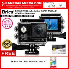 BRICA B-PRO5 Alpha Edition 4K (AE1 4K) BLACK 4K Ultra HD 12MP Action Camera - Garansi Resmi Brica I