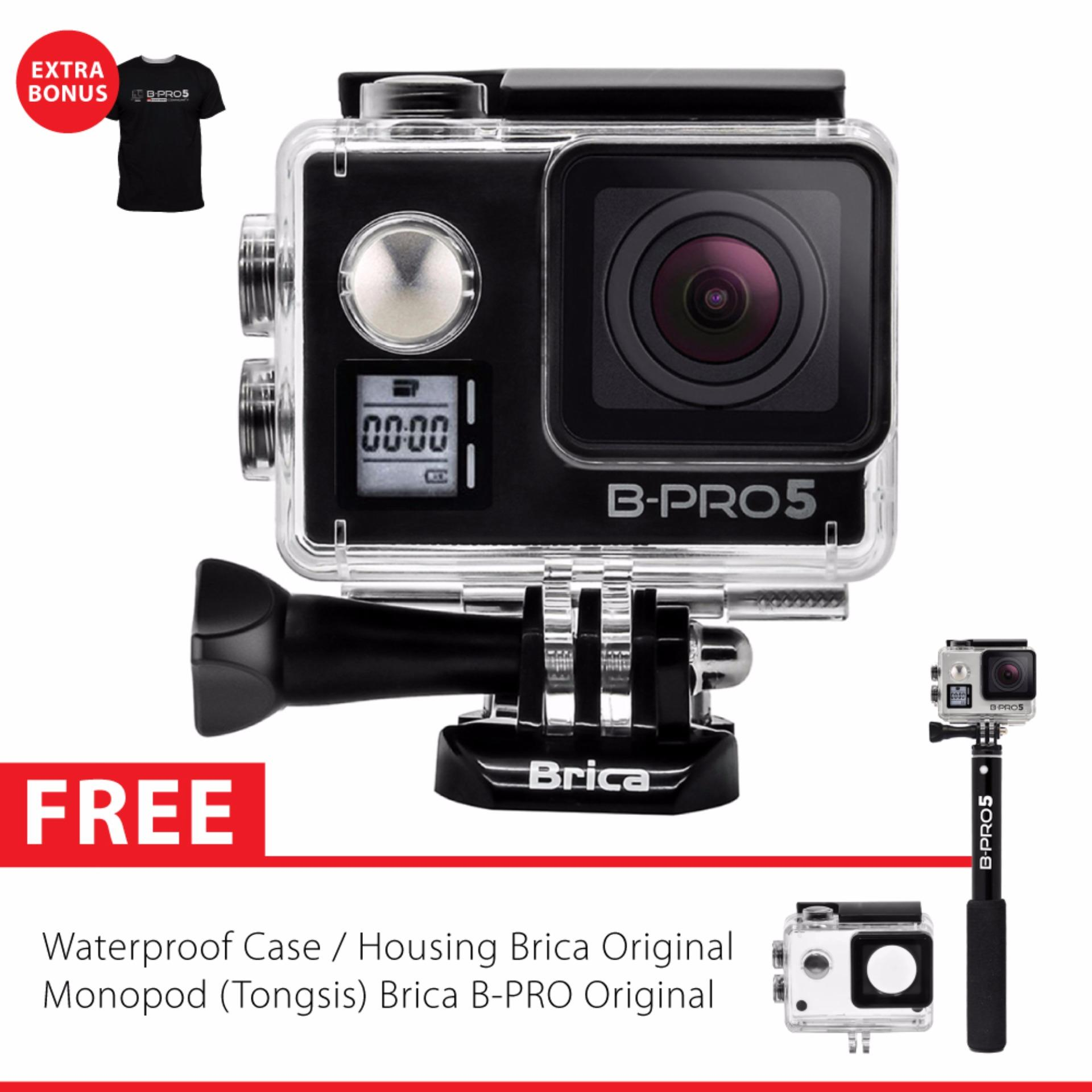 Promo Toko Brica B Pro 5 Alpha Edition Version 2 Mark Iis Ae2S 4K Wifi Action Camera Tongsis Brica Original Hitam