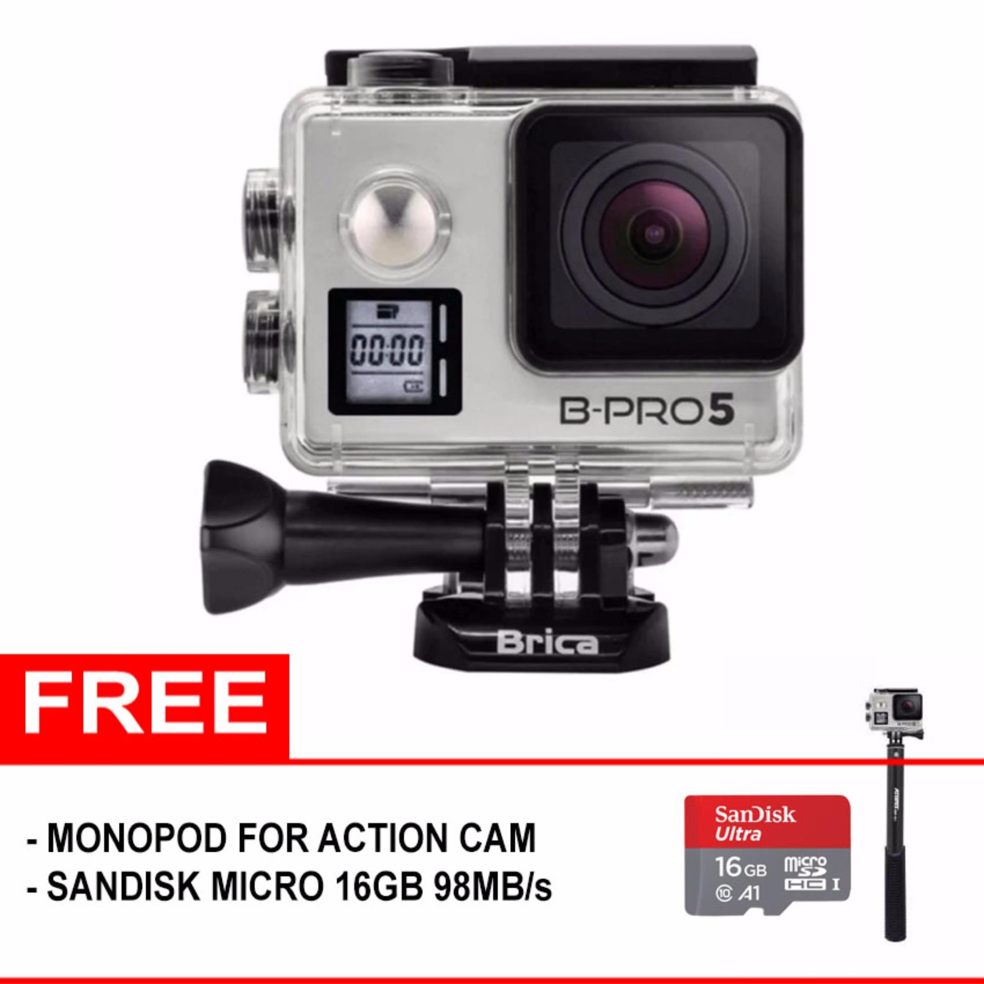 BRICA B-PRO 5 Alpha Edition Version 2 Mark IIs (AE2s) 4K WIFI Action Camera  - (Free Memory SDHC 16GB + Monopod Action Cam)