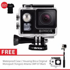 BRICA B-PRO 5 Alpha Edition Version 2 Mark IIs (AE2s) 4K WIFI Action Camera + Gratis Tongsis Attanta SMP-07 - Hitam