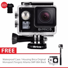 BRICA B-PRO 5 Alpha Edition Version 2 Mark IIs (AE2s) 4K WIFI Action Camera + Tongsis Attanta SMP-08A - Hitam