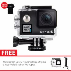 Brica B Pro 5 Alpha Plus Edition Version 2 Ap2 Full Hd 2 5K Action Camera 3 Way Monopod Hitam Promo Beli 1 Gratis 1
