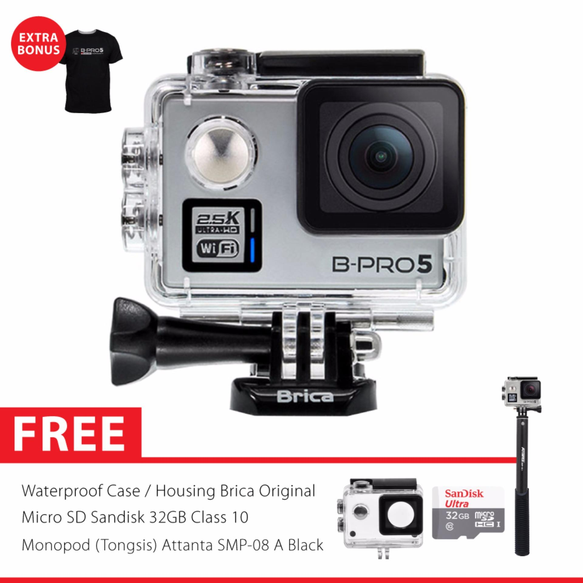 Brica B Pro 5 Alpha Plus Version 2 Ap2 Combo Attanta Supreme Monopod Attanta Smp 08A Micro Sd Card 32 Gb Silver Banten Diskon