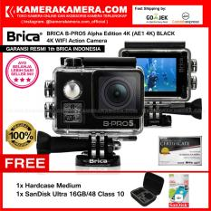 BRICA B-PRO5 Alpha Edition 4K (AE1 4K) BLACK 4K Ultra HD 12MP Action Camera - Garansi Resmi Brica Indonesia Free SanDisk Ultra 16gb + Hardcase Medium