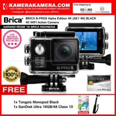 BRICA B-PRO5 Alpha Edition 4K (AE1 4K) BLACK 4K Ultra HD 12MP Action Camera - Garansi Resmi Brica Indonesia Free SanDisk Ultra 16gb + Tongsis Monopod