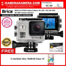 Beli Brica B Pro5 Alpha Edition 4K Ae1 4K Silver 4K Ultra Hd 12Mp Action Camera Garansi Resmi Brica Indonesia Free Sandisk Ultra 16Gb Terbaru