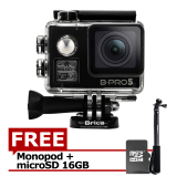 Harga Brica B Pro5 Alpha Edition 4K Ae2 Action Camera Wifi 16 Mp Black Gratis Microsd Card 16Gb Monopod Yang Murah Dan Bagus