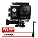 Brica B Pro5 Alpha Edition 4K Ae2 Action Camera Wifi 16 Mp Black Gratis Monopod Murah