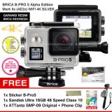 Beli Brica B Pro5 Alpha Edition 4K Mark Iis Ae2S Silver Sticker B Pro Sandisk Ultra 16Gb Speed48 Class10 Tongsis Attanta Smp 09 Original Phone Clip Brica Online