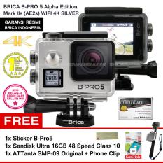 Situs Review Brica B Pro5 Alpha Edition 4K Mark Iis Ae2S Silver Sticker B Pro Sandisk Ultra 16Gb Speed48 Class10 Tongsis Attanta Smp 09 Original Phone Clip