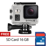 Model Brica B Pro5 Alpha Edition Action Camera Wifi 12 Mp Silver Free 16Gb Terbaru