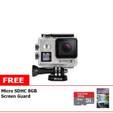 Brica B-Pro5 Alpha Edition Mark IIs Action Cam + Free Memory Micro Sandisk 8GB Class 10 + LCD Screen Guard