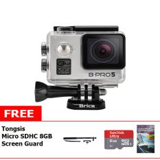 Brica B-Pro5 Alpha Plus Action Cam + Free Memory Micro Sandisk 8GB Class 10 + Tongsis + LCD Screen Guard