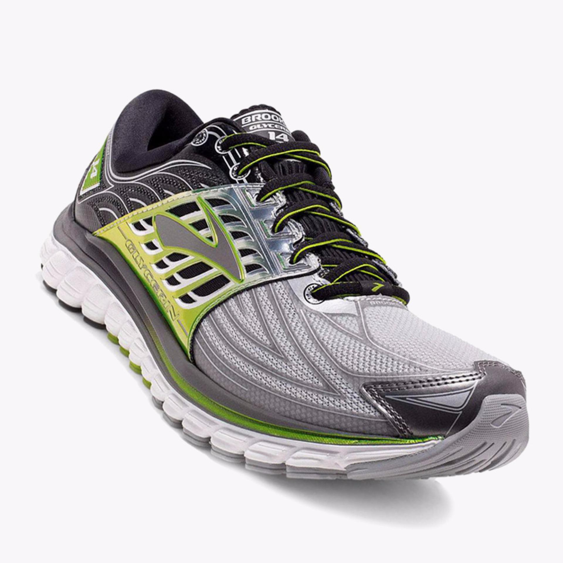 Brooks Glycerin 14 Men's Running Shoes - Normal D - Abu-Abu - Brand Day