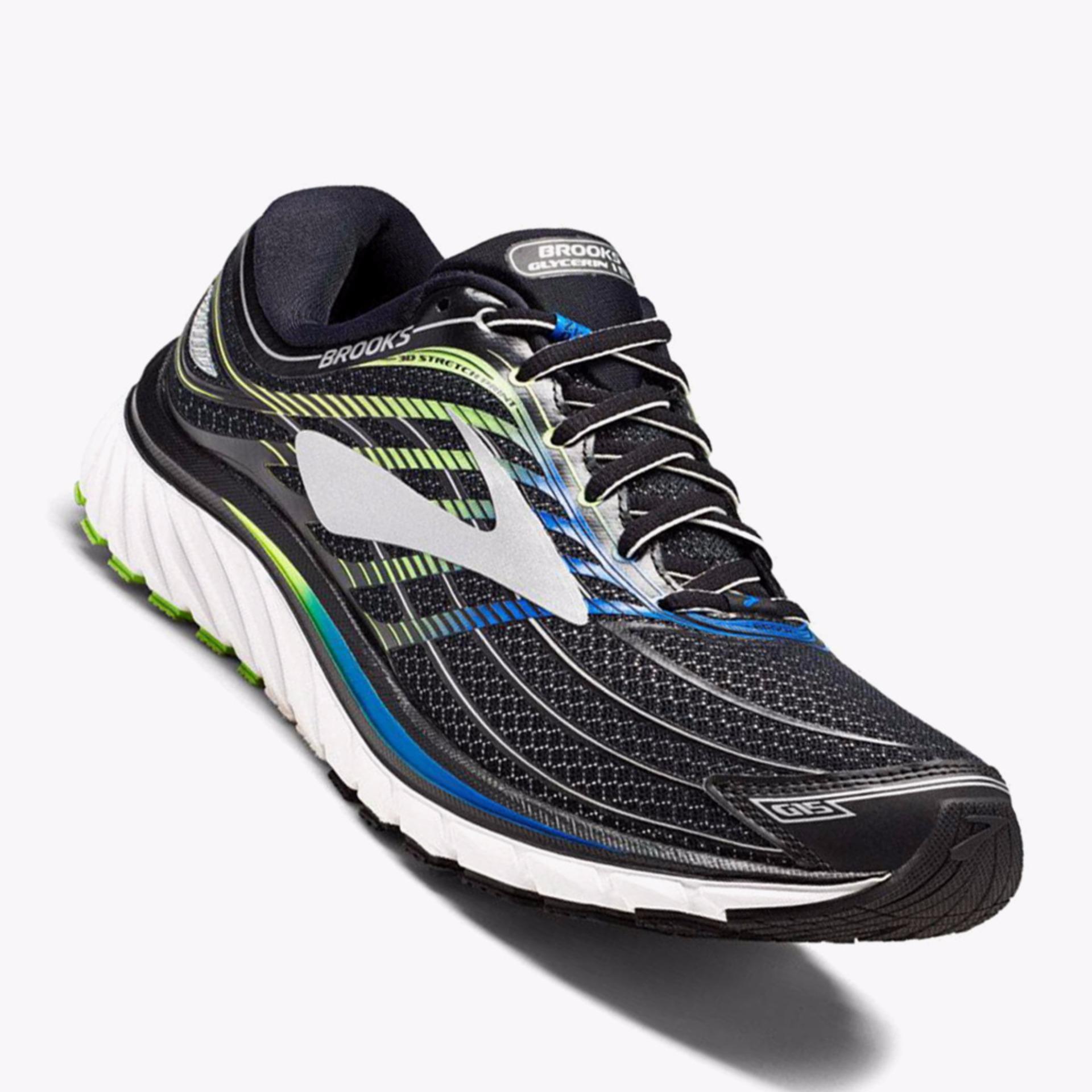 Brooks Glycerin 15 Men's Running Shoes - Normal D - Hitam