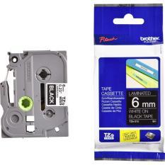 Brother Label Tape TZe-315 6mmx8m White on Black - Laminated Tape / TZe315