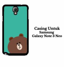 brown 2 SAMSUNG GALAXY NOTE 3 NEO Casing Hardcase Custom Case Cover