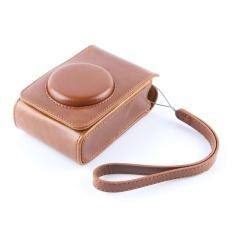 Brown PU Leather Case Digital Camera Case Cover Bag untuk FujifilmXQ1XQ2 XF-1 XF1 Kamera Digital-Internasional