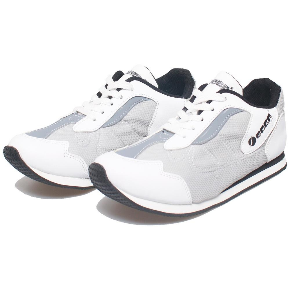 Bsm Soga Bay 407 Sepatu Sneakers Pria - Bahan Synth - Bagus  Dan Keren(Putih)