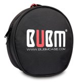Spesifikasi Bubm Headphone Headset Membawa Case With Tas Penyimpanan Kantong Campuran Aluminium Melengkung Hitam Online