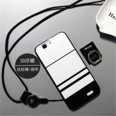 Buildphone 3d Relief Silica Gel Soft Casing Ponsel untuk Huawei Ascend G7 (multicolor)