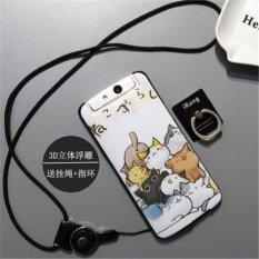 BUILDPHONE 3D Relief Silica Gel Soft Casing Ponsel untuk OPPO N1 Mini (Multicolor)-Intl