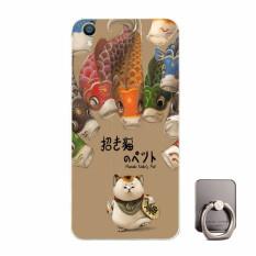 BUILDPHONE Plastik Hard Back Phone Case untuk Huawei Ascend Y635 dengan Pemegang Telepon Ring (Multiwarna)-Intl
