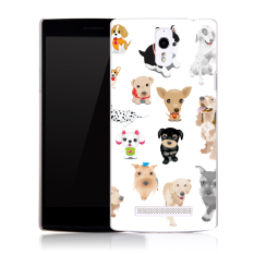 Buildphone Plastik Hard Back Casing Ponsel untuk OPPO FIND7/X9007/X9077 ( multicolor)
