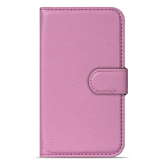 BUILDPHONE PU Leather Phone Plain Color Cover Case for Huawei Ascend G7 (Pink) - intl