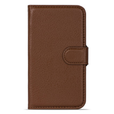 BUILDPHONE PU Leather Phone Plain Color Cover Case untuk Huawei Ascend Y511 (Brown)-Intl