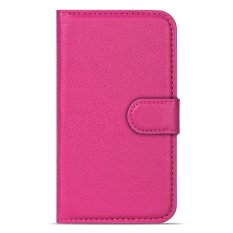 Buildphone PU Leather Phone Plain Warna Cover Case untuk Huawei Ascend Y511 (hotpink)-Intl