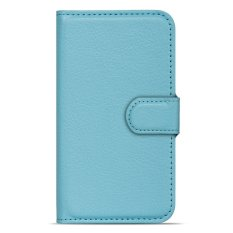 Buildphone PU Leather Phone Plain Warna Cover Case untuk Lenovo S720 (biru)-Intl