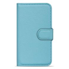 BUILDPHONE PU Leather Phone Plain Color Cover Case for Lenovo Vibe Z2 Pro (K920) (Sky Blue) (Blue) - intl
