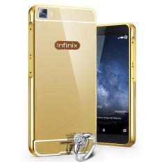 Bumper Miror Infinix Hot 3 X553 Alumunium Sliding Polikarbone - Gold