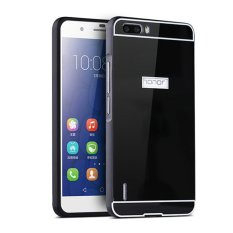 Bumper Mirror For Huawei Honor 4X 2 in 1 Slide Mirror Backcase Hardcase - Hitam