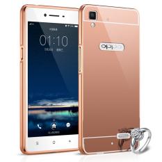Bumper Mirror Untuk Oppo F1 Plus / R9 - Rose Gold - Buy 1 Get 1 Free