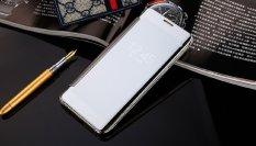 Bumper Xiaomi Redmi Mi5 Flipcase Flip Mirror Cover S View Transparan Auto Lock Casing Hp-Silver