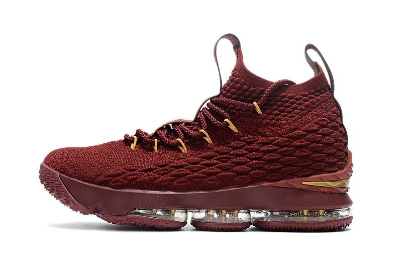 Burgundy Size 40 Mens Lebron XV 15 Basketball Shoes NBA LeBron James Sneakers Non slip Hard-wearing Official
