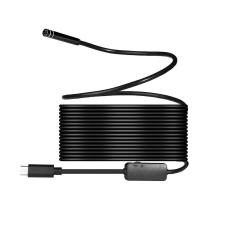 Burmab 8mm 720 P Megapixels HD Wireless 2in1 USB Tipe-C Endoskopi Borescope, Tahan Air Inspeksi Ular Kamera untuk Android/Macbook OS dengan 8 Pcs LED Bisa Disesuaikan Kecerahan, 10 M-Intl