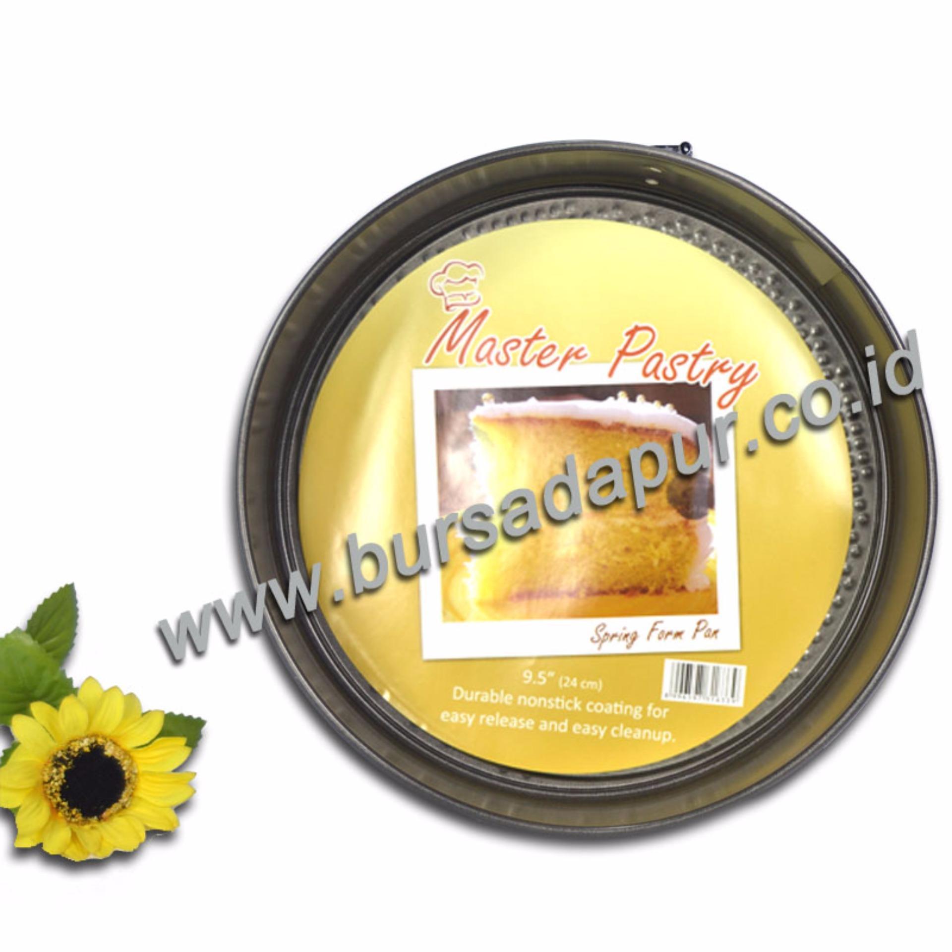 Harga Bursa Dapur Master Pastry Non Stick Spring Form 24 Cm Loyang Bulat Loyang Bongkar Pasang Yg Bagus