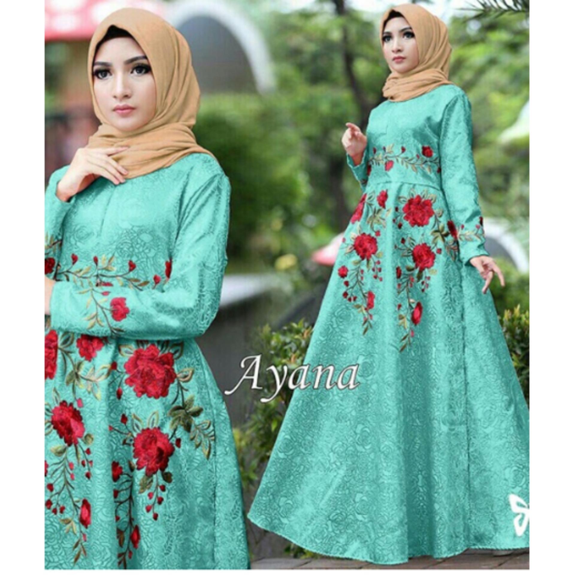 Busana Muslim Pesta Bordir Mewah - Baju Kondangan Muslimah Premium - Gamis Masa Kini Dress Muslim - Kebaya Modern - ihayana