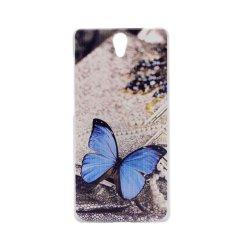 Butterfly Clear Edge Plastik Keras Lukisan Belakang Sampul Case untuk OPPO Find 5 Mini R827 (Clear)-Intl