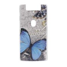 Butterfly Clear Edge Plastik Keras Lukisan Belakang Sampul Case untuk OPPO N3 (Clear)-Intl