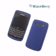 Buy 1 get 1 free - Silicone Cover for Blackberry 9700 bold skin silicon - dark blue
