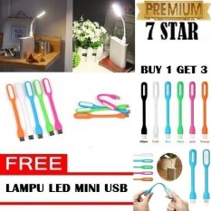 Buy 1 Get 3 Lampu Mini Led Usb Light Powerbank Lampu Baca Lampu Multifungsi - Random By 7star Id.