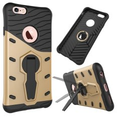 Beli Beli Shop High Quality Shockproof Armor Rugged Hybrid TPU Hard Smartphone Case 360 Derajat Memutar Kick Stand 2 In 1 Kickstand Cover untuk IPhone7-Intl