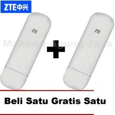 Buy One Get One ZTE USB Modem MF667 2IN1 (Slot All GSM + Slot Micro USB) – Putih/White